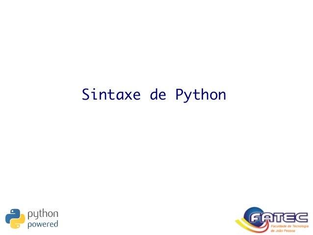Sintaxe de Python
