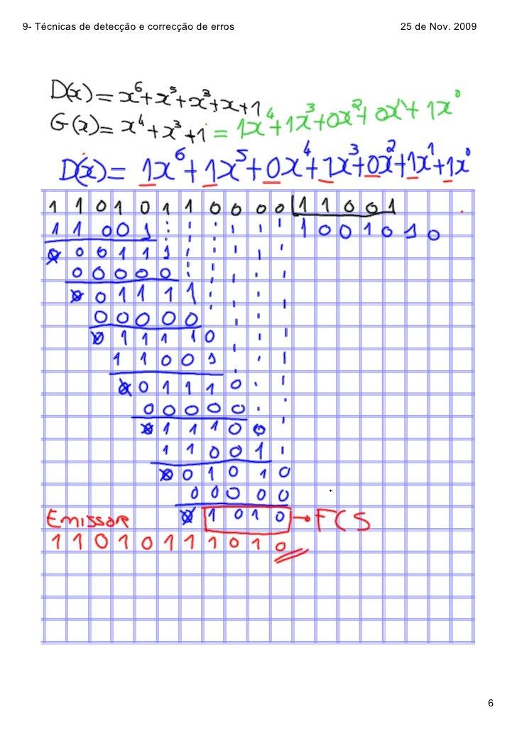 9Técnicasdedetecçãoecorrecçãodeerros   25deNov.2009                                                            ...
