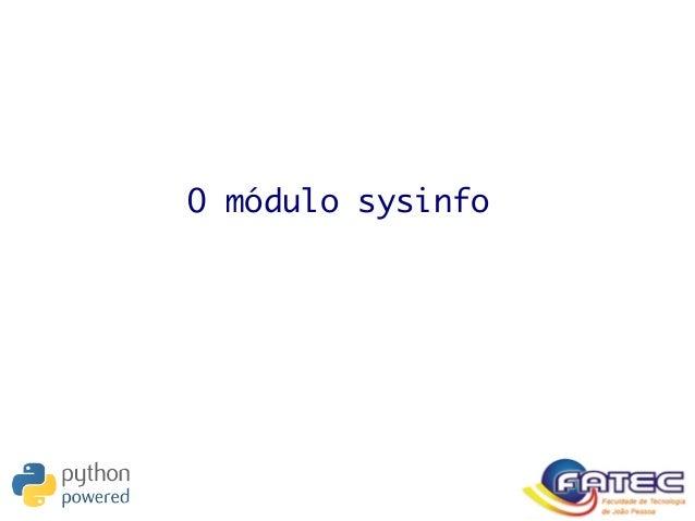 O módulo sysinfo