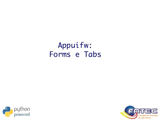 Appuifw: Forms e Tabs