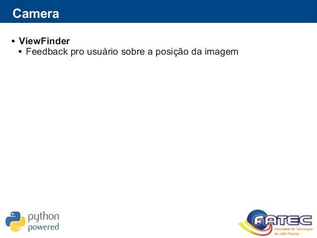 Camera  ViewFinder  Feedback pro usuário sobre a posição da imagem