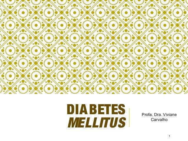 DIABETES MELLITUS Profa. Dra. Viviane Carvalho 1