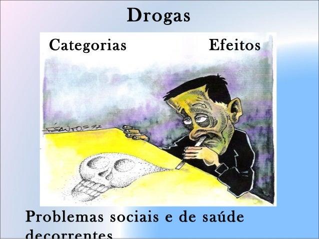 Drogas Categorias Efeitos Problemas sociais e de saúde