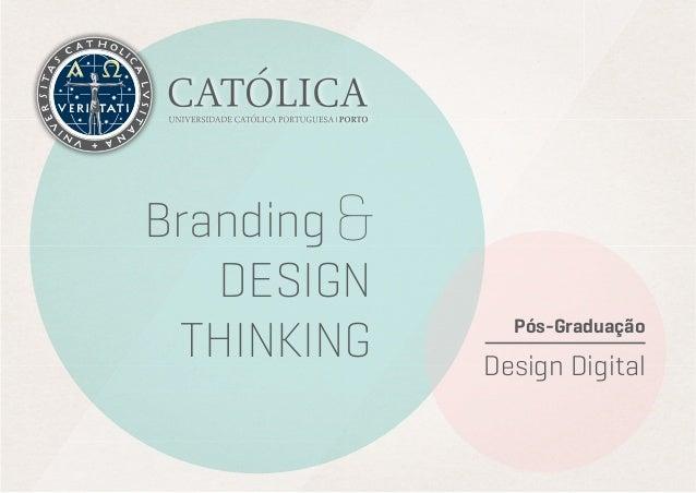 Pós-Graduação Design Digital Branding DESIGN THINKING &