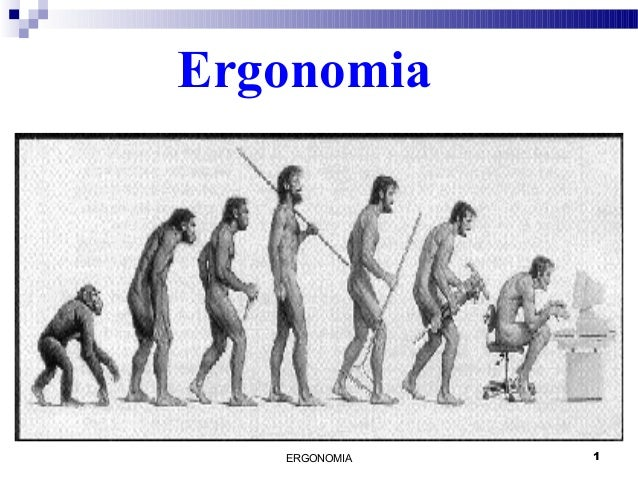ERGONOMIA 1 Ergonomia