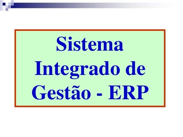 Sistema Integrado de Gestão - ERP