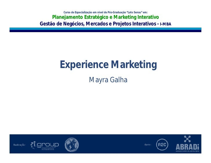 """I-MBA                                Curso de Especialização em nível de Pós-Graduação """"Lato Sensu"""" em:                   ..."""