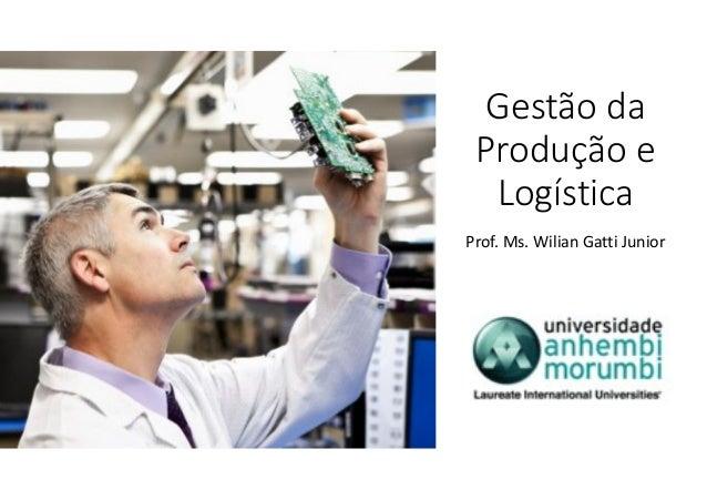 Gestão da Produção e Logística Prof. Ms. Wilian Gatti Junior