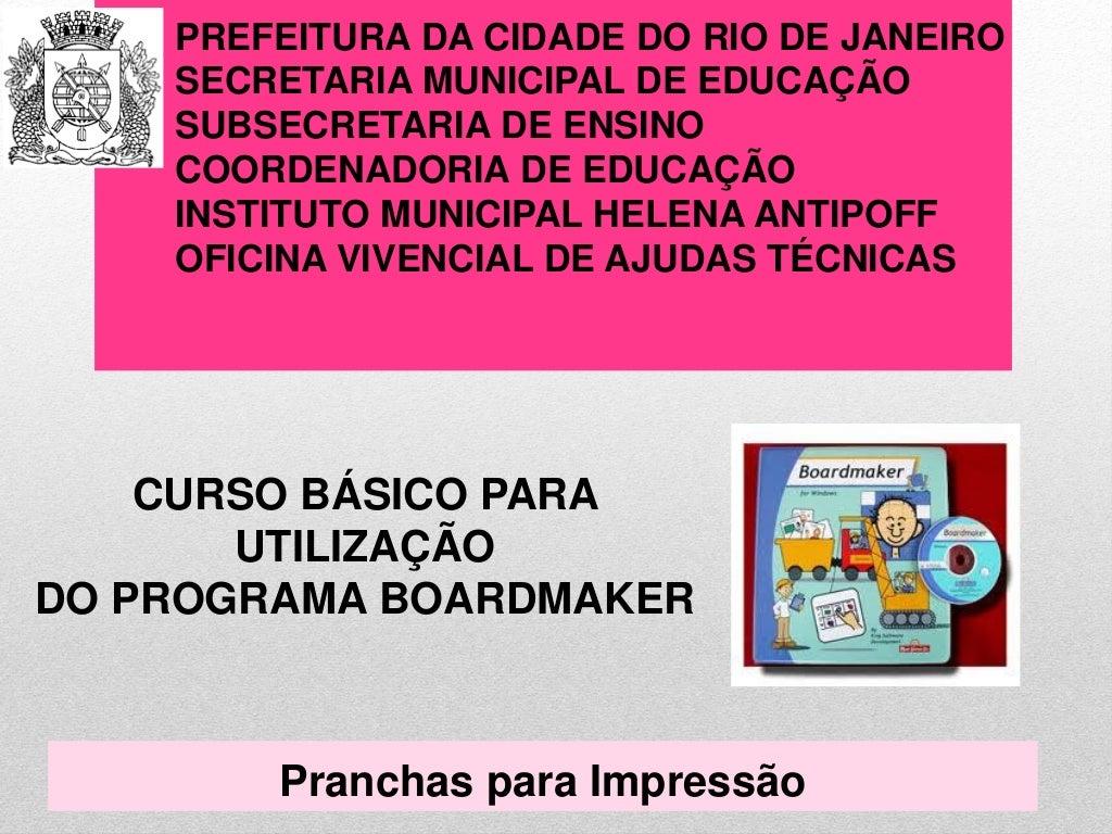 Utilização do Programa Boardmaker