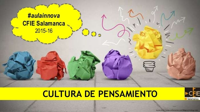 Fuente:http://www.nmformacion.com/blog.asp?vcblog=1220 CULTURA DE PENSAMIENTO #aulainnova CFIE Salamanca 2015-16
