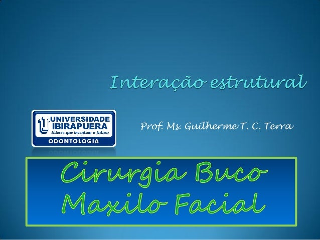 Prof. Ms. Guilherme T. C. Terra