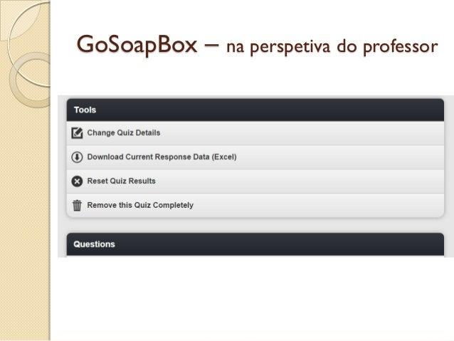 GoSoapBox – na perspetiva do professor
