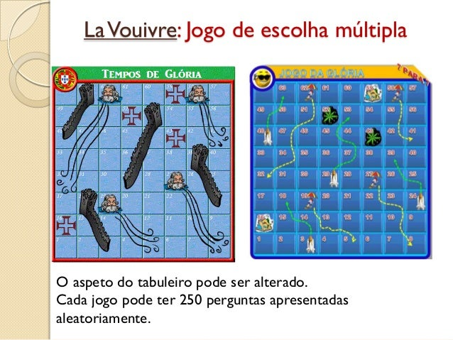 LaVouivre: Jogo de escolha múltipla O aspeto do tabuleiro pode ser alterado. Cada jogo pode ter 250 perguntas apresentadas...