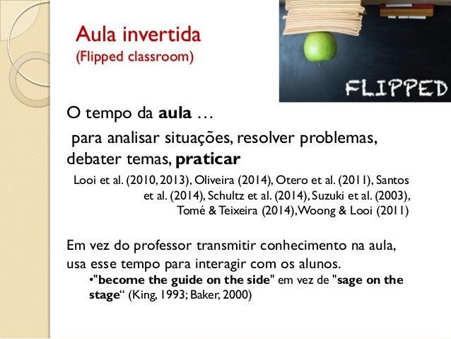 Aula invertida (Flipped classroom) O tempo da aula … para analisar situações, resolver problemas, debater temas, praticar ...