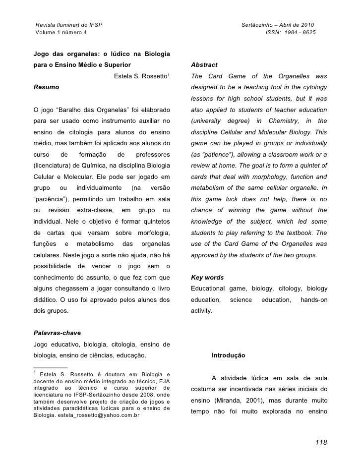 Revista Iluminart do IFSP                                                     Sertãozinho – Abril de 2010 Volume 1 número ...
