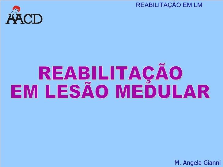 REABILITAÇÃO  EM LESÃO MEDULAR