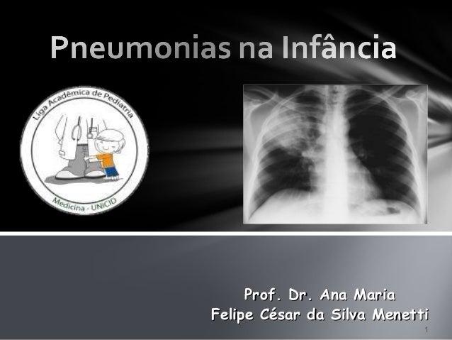 1 Felipe César da Silva MenettiFelipe César da Silva Menetti Prof. Dr. Ana MariaProf. Dr. Ana Maria