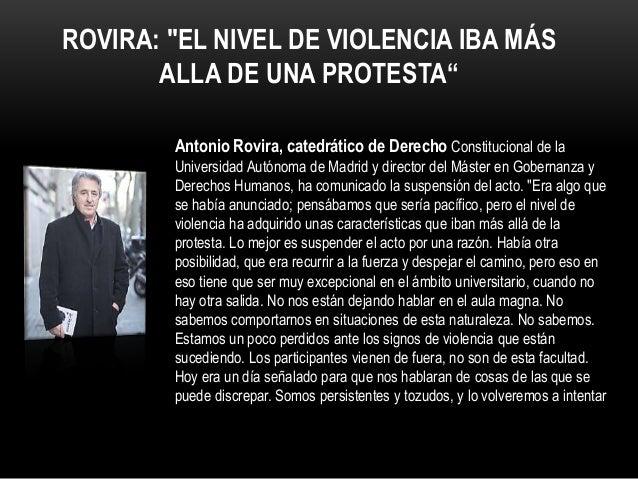 EL ROTO Antonio Rovira, catedrático de Derecho Constitucional de la Universidad Autónoma de Madrid y director del Máster e...
