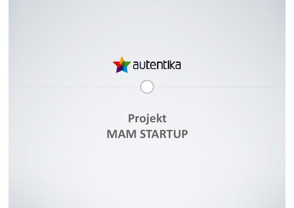 Projekt MAM STARTUP
