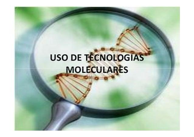 USO DE TECNOLOGIAS MOLECULARESMOLECULARES