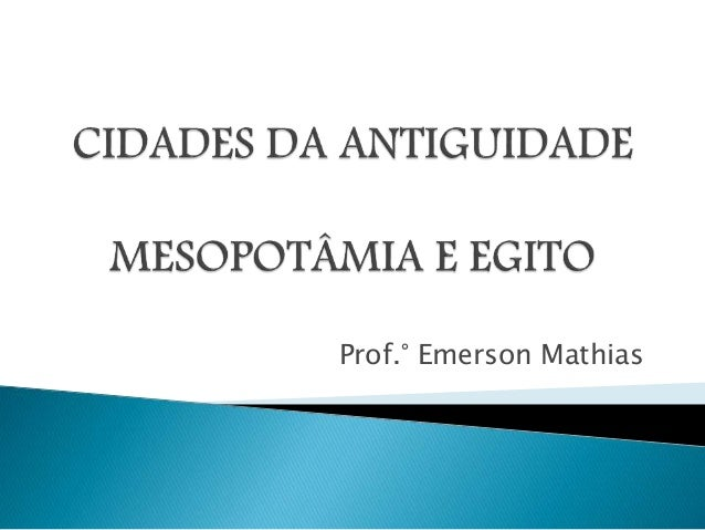 Prof.° Emerson Mathias