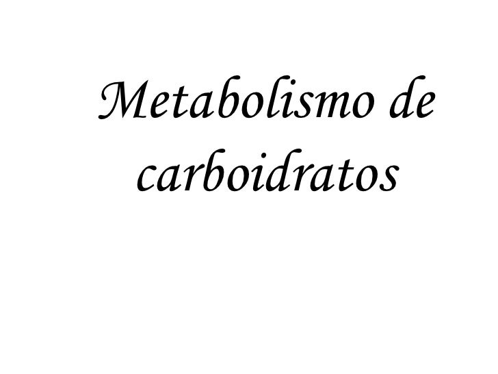 Metabolismo dos Carboidratos I