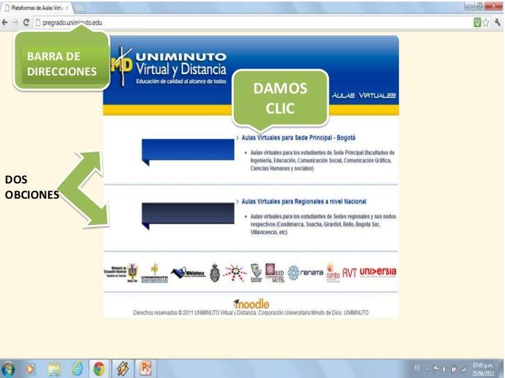 BARRA DE   DIRECCIONES                 DAMOS                  CLICDOSOBCIONES