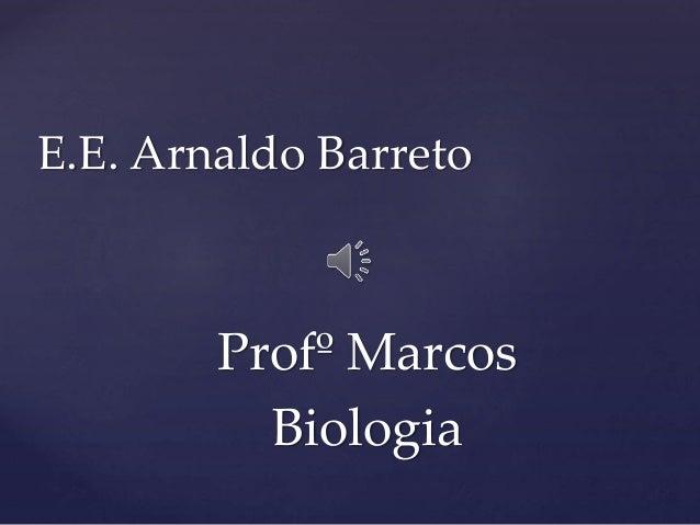 Profº Marcos Biologia E.E. Arnaldo Barreto