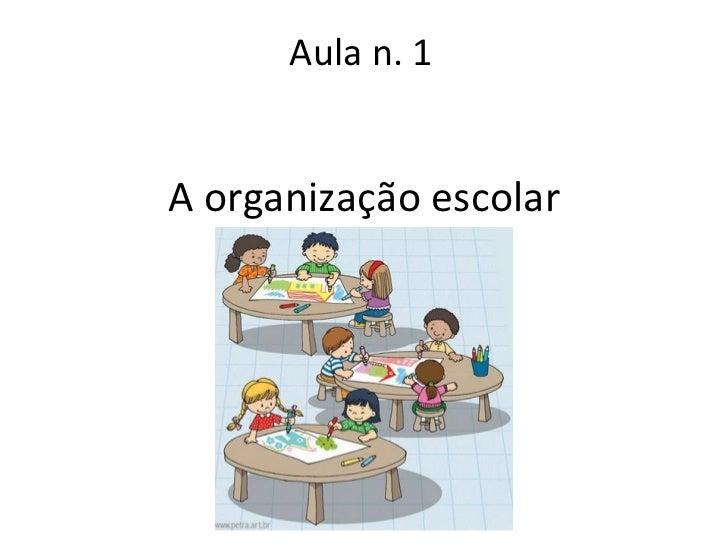 A organização escolar Aula n. 1