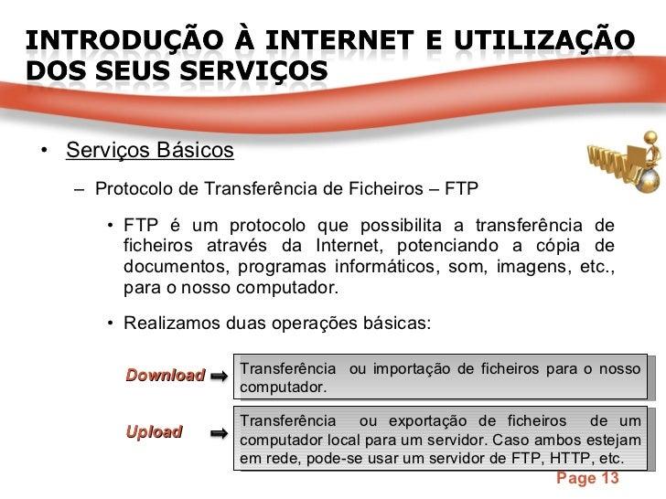 <ul><li>Serviços Básicos </li></ul><ul><ul><li>Protocolo de Transferência de Ficheiros – FTP </li></ul></ul><ul><ul><ul><l...