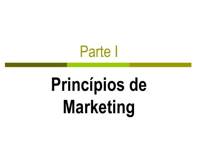 Parte I Princípios de Marketing