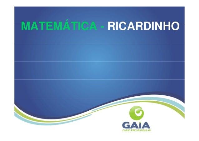 MATEMÁTICA - RICARDINHO