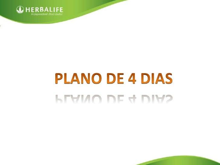PLANO DE 4 DIAS<br />