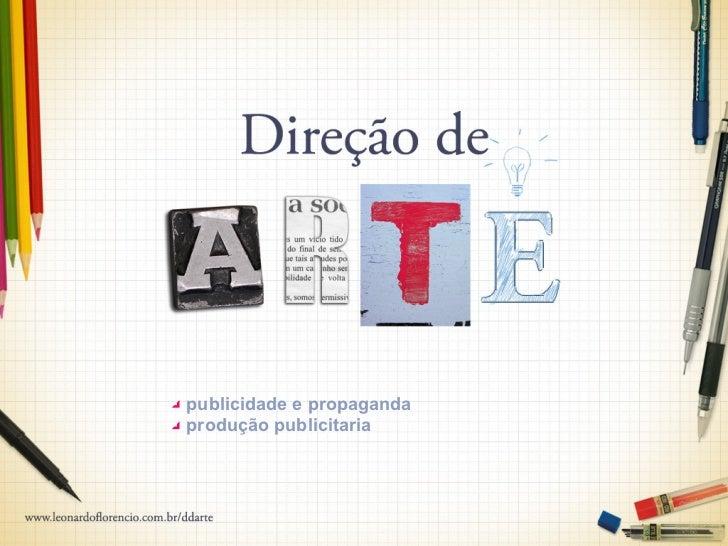 publicidade e propagandaprodução publicitaria