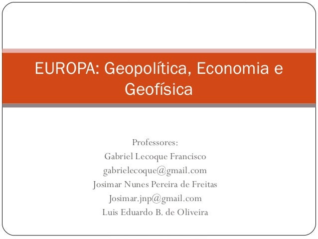 Professores:Gabriel Lecoque Franciscogabrielecoque@gmail.comJosimar Nunes Pereira de FreitasJosimar.jnp@gmail.comLuis Edua...