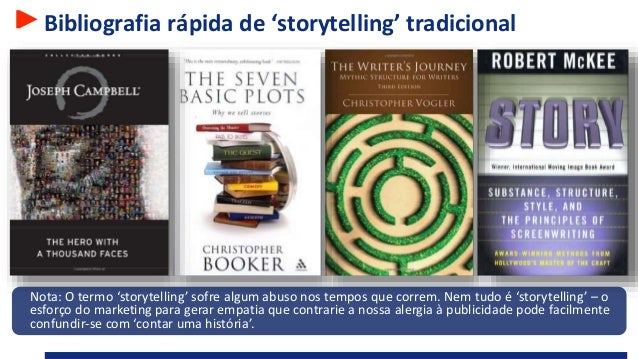 Bibliografia rápida de 'storytelling' tradicional Nota: O termo 'storytelling' sofre algum abuso nos tempos que correm. Ne...