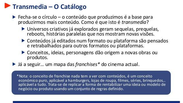 Transmedia – O Catálogo Fecha-se o círculo – o conteúdo que produzimos é a base para produzirmos mais conteúdo. Como é que...