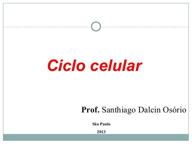 Ciclo celularSão Paulo2013Prof. Santhiago Dalcin Osório