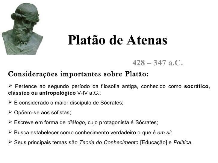 Suficiente Aulas de filosofia platão CE43