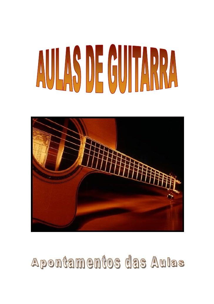 Aula Dia 1/11/2011A guitarra clássica moderna desenvolveu-se em Espanha durante o séc. XIX. A maioria dasguitarras clássic...