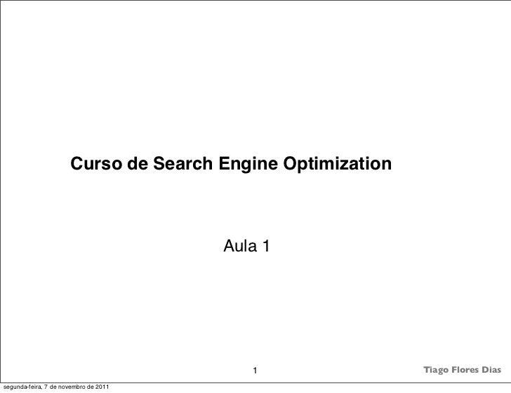 Curso de Search Engine Optimization                                       Aula 1                                          ...