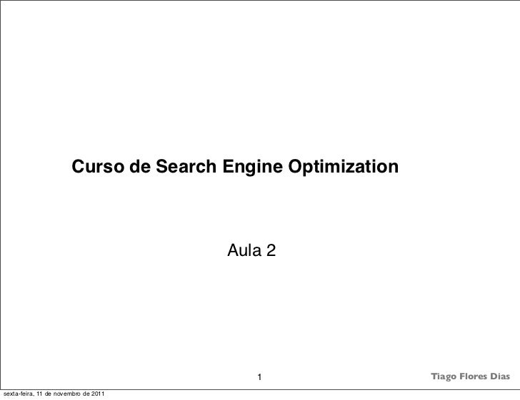 Curso de Search Engine Optimization                                       Aula 2                                          ...