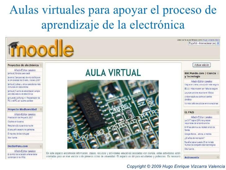 Aulas virtuales para apoyar el proceso de aprendizaje de la electrónica