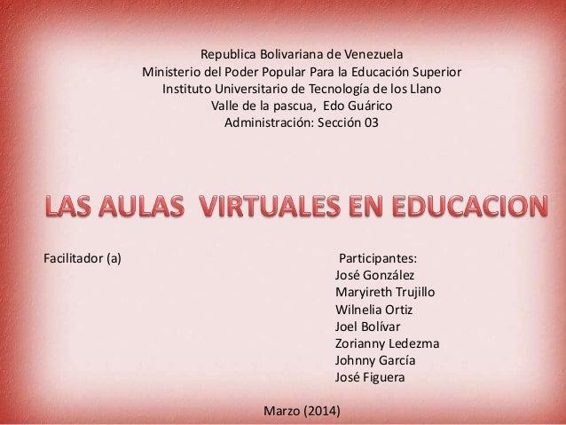 Republica Bolivariana de Venezuela Ministerio del Poder Popular Para la Educación Superior Instituto Universitario de Tecn...