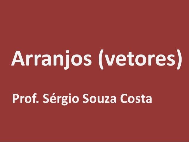Arranjos (vetores) Prof. Sérgio Souza Costa