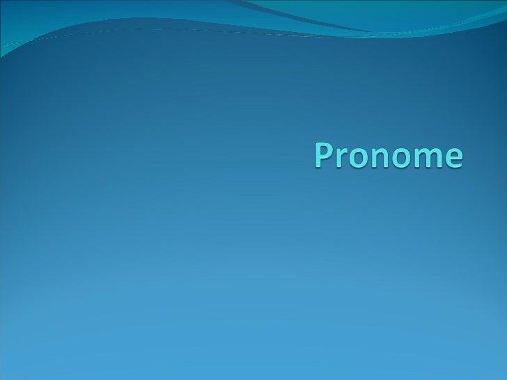 Pronomes Pessoais Slide 1