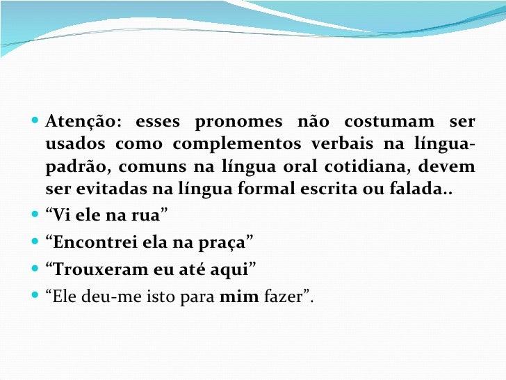Pronomes Pessoais Slide 41