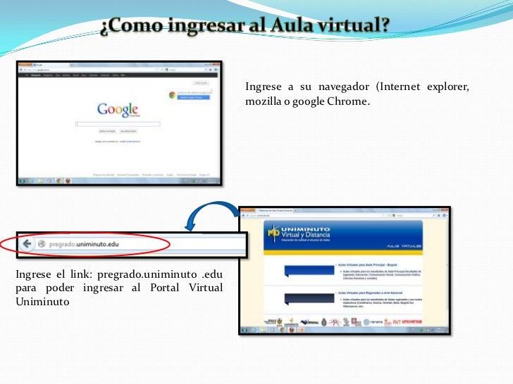 Ingrese a su navegador (Internet explorer,                                           mozilla o google Chrome.Ingrese el li...