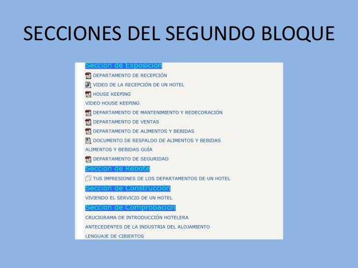 En este bloque se realiza la retroalimentación del aulamediante los siguientes parámetros, dados en estassecciones