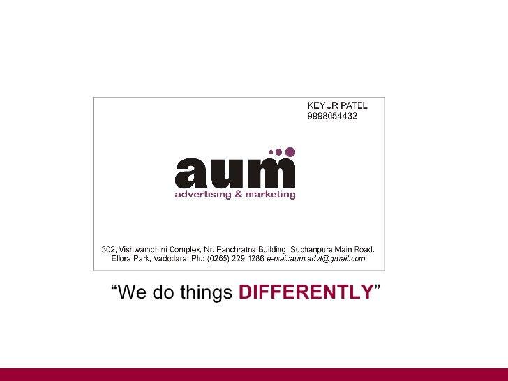 Aum advt mktg for Awadhi cuisine ppt